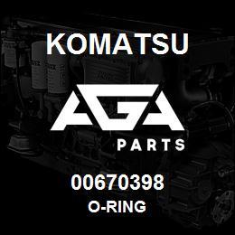 00670398 Komatsu O-RING | AGA Parts