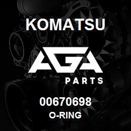 00670698 Komatsu O-RING | AGA Parts