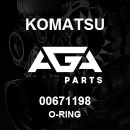00671198 Komatsu O-RING   AGA Parts