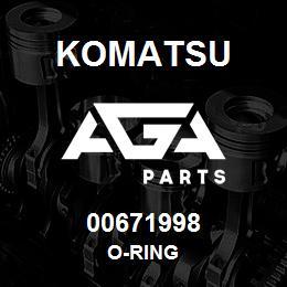 00671998 Komatsu O-RING | AGA Parts