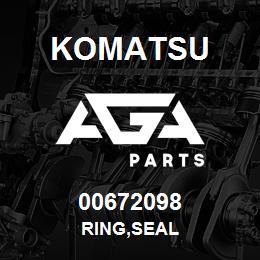 00672098 Komatsu RING,SEAL | AGA Parts