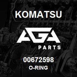 00672598 Komatsu O-RING | AGA Parts