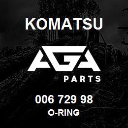 006 729 98 Komatsu O-ring | AGA Parts