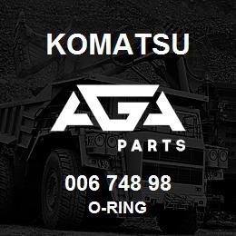 006 748 98 Komatsu O-ring | AGA Parts