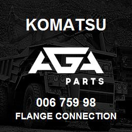 006 759 98 Komatsu Flange connection | AGA Parts
