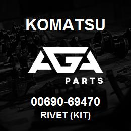 00690-69470 Komatsu RIVET (KIT) | AGA Parts