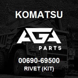 00690-69500 Komatsu RIVET (KIT) | AGA Parts