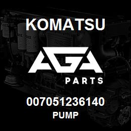 007051236140 Komatsu Pump | AGA Parts