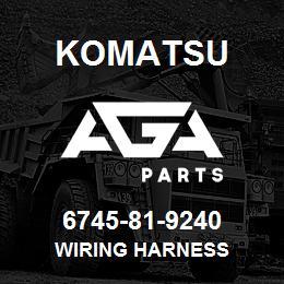 6745-81-9240 WIRING HARNESS - 6745-81-9240 - Komatsu spare ... on