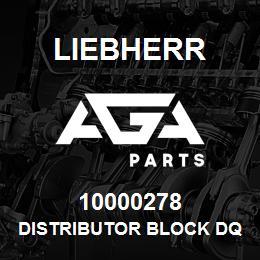 10000278 DISTRIBUTOR BLOCK DQ - 10000278 - Liebherr spare