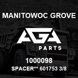 1000098 Manitowoc Grove SPACER** 601753 3/8 X 1/2 | AGA Parts