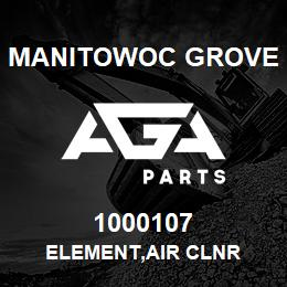 1000107 Manitowoc Grove ELEMENT,AIR CLNR | AGA Parts