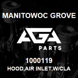 1000119 Manitowoc Grove HOOD,AIR INLET,W/CLAMP | AGA Parts