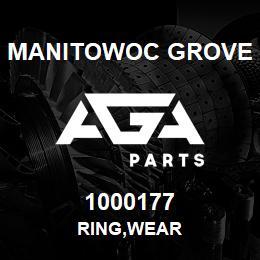 1000177 Manitowoc Grove RING,WEAR   AGA Parts