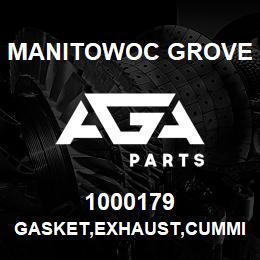 1000179 Manitowoc Grove GASKET,EXHAUST,CUMMINS   AGA Parts