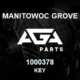 1000378 Manitowoc Grove KEY | AGA Parts