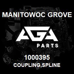 1000395 Manitowoc Grove COUPLING,SPLINE | AGA Parts