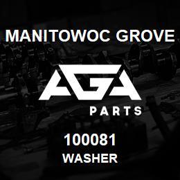 100081 Manitowoc Grove WASHER | AGA Parts