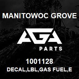 1001128 Manitowoc Grove DECAL,LBL,GAS FUEL,E | AGA Parts