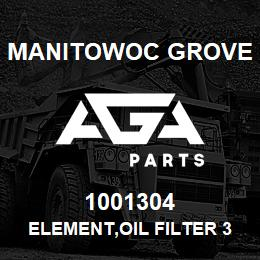 1001304 Manitowoc Grove ELEMENT,OIL FILTER 3/4 | AGA Parts