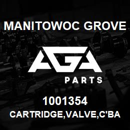1001354 Manitowoc Grove CARTRIDGE,VALVE,C'BAL,4.5:1 | AGA Parts