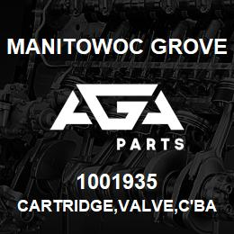 1001935 Manitowoc Grove CARTRIDGE,VALVE,C'BAL | AGA Parts