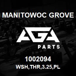 1002094 Manitowoc Grove WSH,THR,3.25,PL | AGA Parts