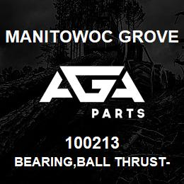 100213 Manitowoc Grove BEARING,BALL THRUST-BANDED | AGA Parts