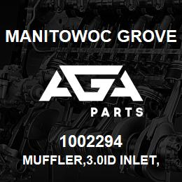 1002294 Manitowoc Grove MUFFLER,3.0ID INLET,3.0ID OUT | AGA Parts