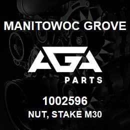 1002596 Manitowoc Grove NUT, STAKE M30 | AGA Parts