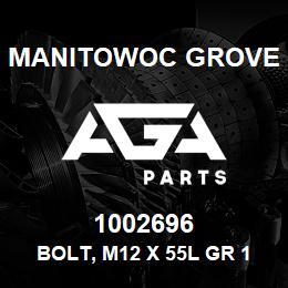 1002696 Manitowoc Grove BOLT, M12 X 55L GR 12.9 | AGA Parts