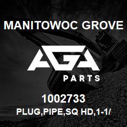1002733 Manitowoc Grove PLUG,PIPE,SQ HD,1-1/4 | AGA Parts