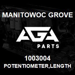 1003004 Manitowoc Grove POTENTIOMETER,LENGTH (5TURN) | AGA Parts