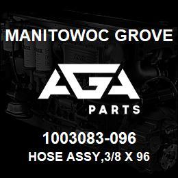1003083-096 Manitowoc Grove HOSE ASSY,3/8 X 96 | AGA Parts
