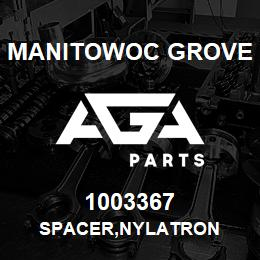 1003367 Manitowoc Grove SPACER,NYLATRON | AGA Parts