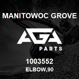 1003552 Manitowoc Grove ELBOW,90 | AGA Parts