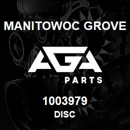 1003979 Manitowoc Grove DISC | AGA Parts