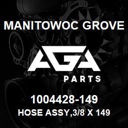 1004428-149 Manitowoc Grove HOSE ASSY,3/8 X 149 | AGA Parts