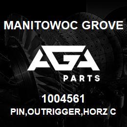 1004561 Manitowoc Grove PIN,OUTRIGGER,HORZ CYL | AGA Parts