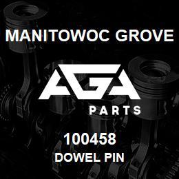 100458 Manitowoc Grove DOWEL PIN | AGA Parts
