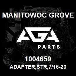1004659 Manitowoc Grove ADAPTER,STR,7/16-20 X M10X1 | AGA Parts