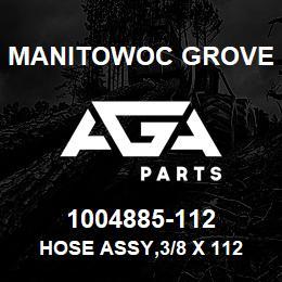 1004885-112 Manitowoc Grove HOSE ASSY,3/8 X 112 | AGA Parts