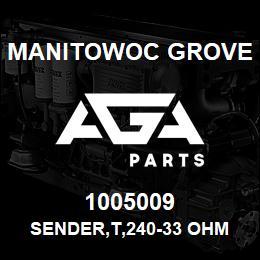 1005009 Manitowoc Grove SENDER,T,240-33 OHM | AGA Parts