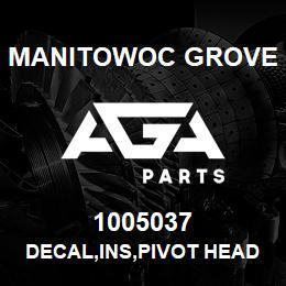 1005037 Manitowoc Grove DECAL,INS,PIVOT HEAD,E | AGA Parts