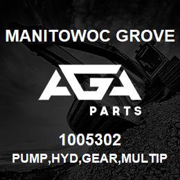 1005302 Manitowoc Grove PUMP,HYD,GEAR,MULTIPLE | AGA Parts