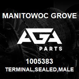 1005383 Manitowoc Grove TERMINAL,SEALED,MALE,14-16 | AGA Parts