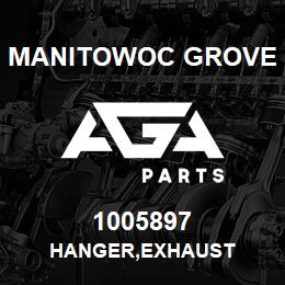 1005897 Manitowoc Grove HANGER,EXHAUST | AGA Parts