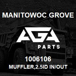 1006106 Manitowoc Grove MUFFLER,2.5ID IN/OUT | AGA Parts