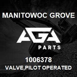 1006378 Manitowoc Grove VALVE,PILOT OPERATED CHECK | AGA Parts