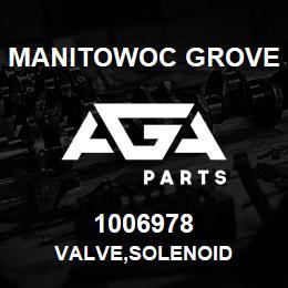 1006978 Manitowoc Grove VALVE,SOLENOID | AGA Parts